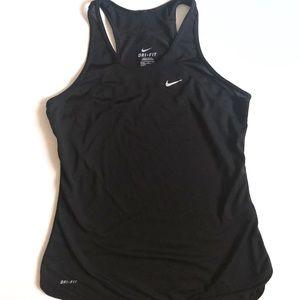 Nike Dri Fit Black Racerback Tank Top Small